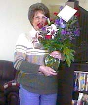 Mom celebrates her birthday with flowers (and Margueritas)!!!